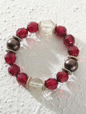 Lady in Red Bracelet
