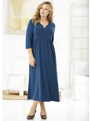 Matte Jersey Notch-neck Dress