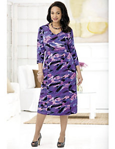 Purple Palette Knit Dress by Ulla Popken