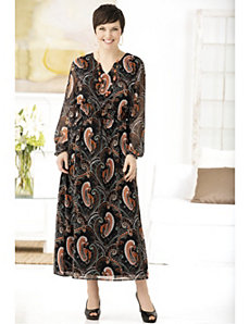 Infinitely Paisley Print Dress by Ulla Popken