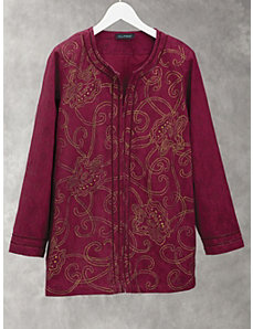 Precious Treasure Embroidered Jacket by Ulla Popken