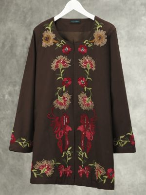 Floral Vine Embroidered Jacket