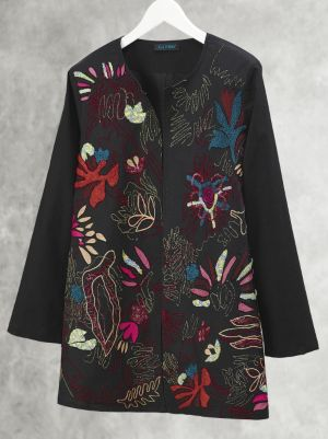 Abstract Organics Embroidered Jacket