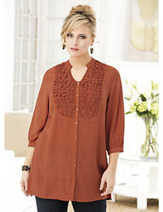 Sweetly Smocked Tunic by Ulla Popken