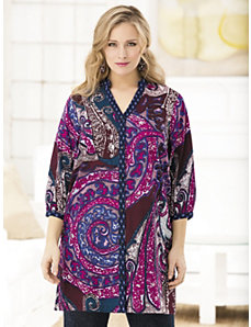 Ultimate Paisley Blouse by Ulla Popken
