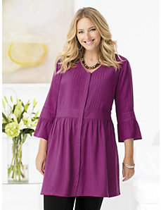 Skirted Baby Doll Tunic by Ulla Popken