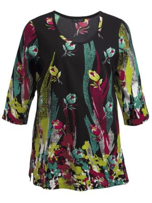 Paintbox Floral Knit Tunic