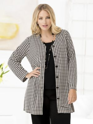 Houndstooth Knit Jacket