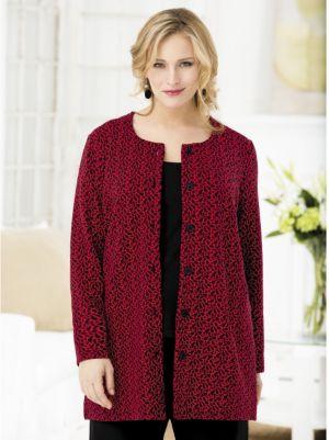 Abstract Jacquard Knit Jacket