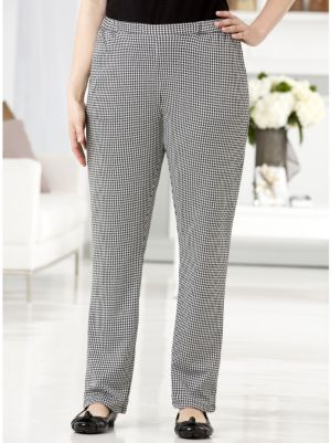Houndstooth Check Knit Pants