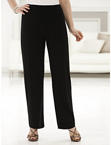 Stretch Knit Relaxed Shorter-length Pants by Ulla Popken