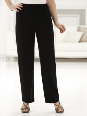 Stretch Knit Relaxed Shorter-length Pants