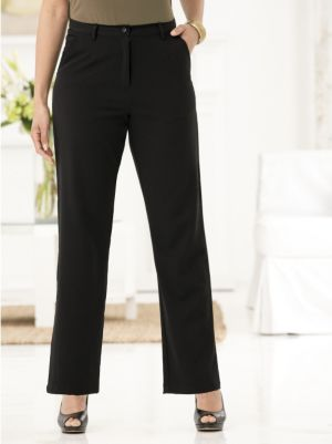 Black Magic Tailored Career Pants