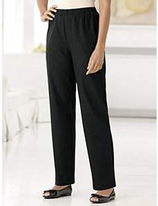 Stretch Slim-fit Nylon Shorter-length Pants by Ulla Popken