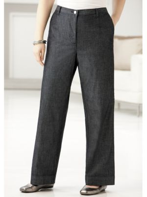 Wide-leg Denim Shorter-length Trousers