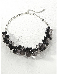 Smoky Cluster Bead Necklace by Ulla Popken