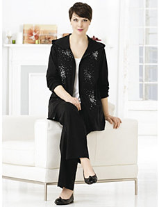 Embellished Hoodie Lounge Set by Ulla Popken