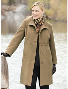 Seamed Empire Coat by Ulla Popken