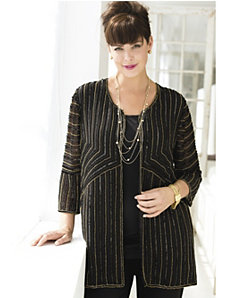 Night Lines Beaded Jacket by Ulla Popken