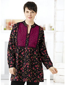Beaucoups of Blooms Tunic by Ulla Popken