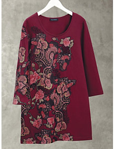 Red Roses Knit Tunic by Ulla Popken