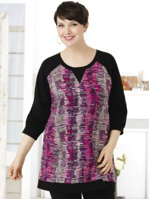 Color Waves Knit Tunic
