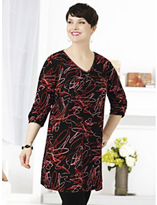 Scribble Scribble Knit Tunic by Ulla Popken