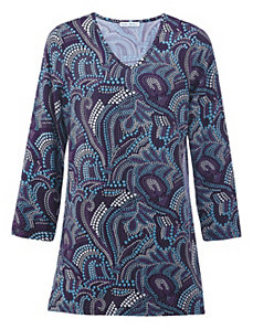 Marvelous Mosaic Knit Tunic by Ulla Popken