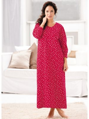 Print Cotton Nightgown