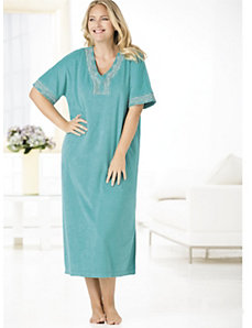 Dreamtime Knit Terry Caftan by Ulla Popken