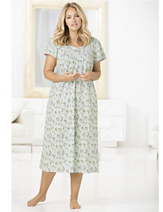 Mint Treat Gown by Ulla Popken