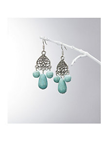 Turquoise Trio Dangle Earrings by Ulla Popken