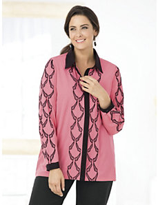 Chains of Elegance Blouse by Ulla Popken