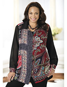 Patches of Paisley Tunic Set by Ulla Popken