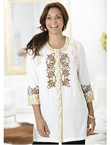 Shades of Chic Embroidered Tunic by Ulla Popken
