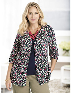 Smell the Roses Cardigan Sweater by Ulla Popken