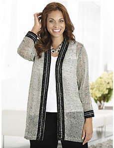 Style Unchained Knit Jacket by Ulla Popken