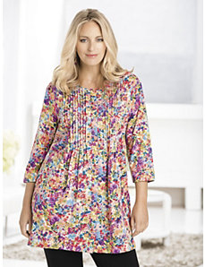 Sweet Bouquets Knit Tunic by Ulla Popken