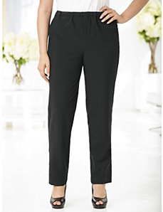 Stretch Tapered-fit Ankle Pants by Ulla Popken