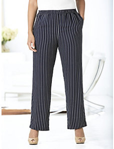 Striped Right Pants by Ulla Popken
