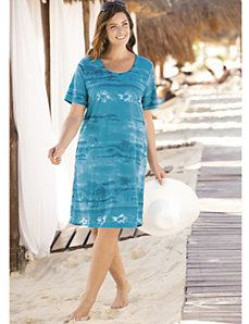 South Pacific Knit Dress by Ulla Popken