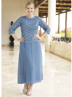 Blue Serenity Lace Two-in-One Dress