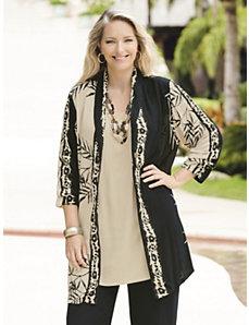 Bamboo Batik Jacket by Ulla Popken