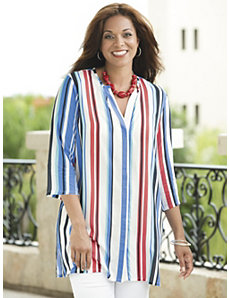 Striped So Nice Tunic by Ulla Popken