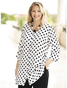 Infinite Dots Tunic by Ulla Popken