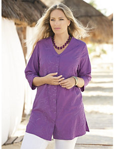 Cadiz Embroidered Tunic by Ulla Popken