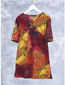 Cheetah's Daydream Knit Tunic by Ulla Popken