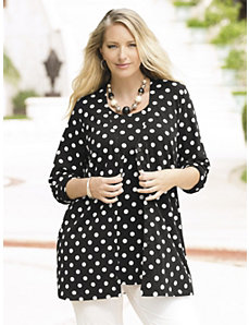 Coin Dot Knit Twinset by Ulla Popken