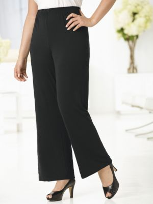 Full Leg Stretch Knit Regular-length Pants