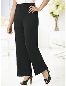 Full Leg Stretch Knit Shorter-length Pants by Ulla Popken